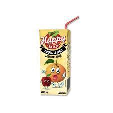 Suco HAPPY FRUIT Laranja 200ml