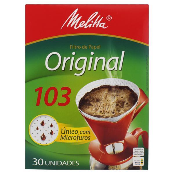 Filtro de Papel Original Melitta 103 Caixa 30 Unidades