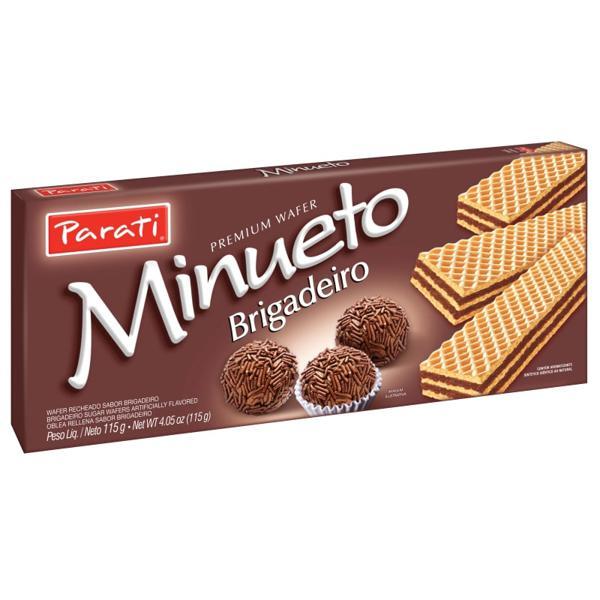 Biscoito PARATI Minueto Wafer Brigadeiro 115g