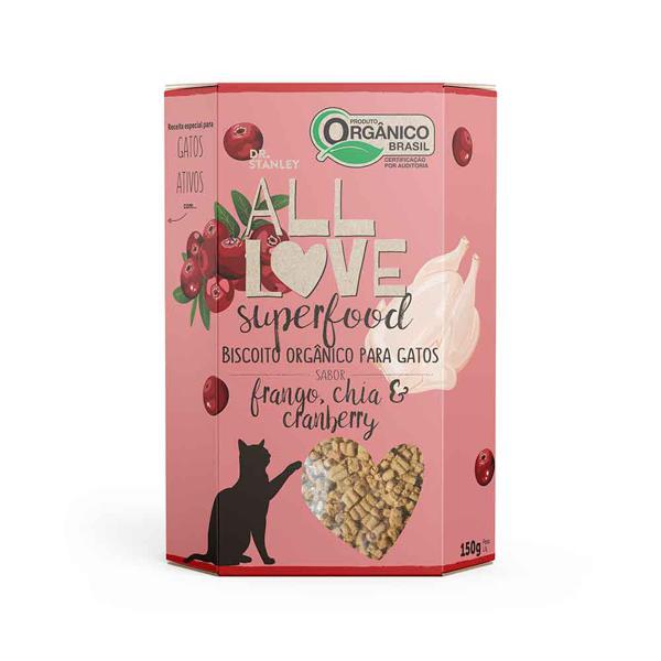 Biscoito Orgânico Superfood Para Gatos | Frango, Chia & Cranberry 150g - Dr. Stanley