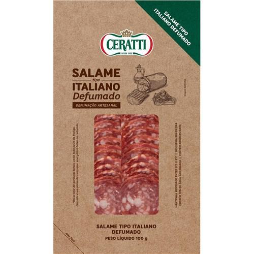 Salame Fatiado Italiano Defumado Ceratti 100G Defumado