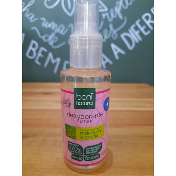 Desodorante Spray Melaleuca e Toranja 120ml BONI NATURAL