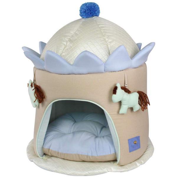 Casinha Carrossel Bonito para Cães, Tamanho U, Azul