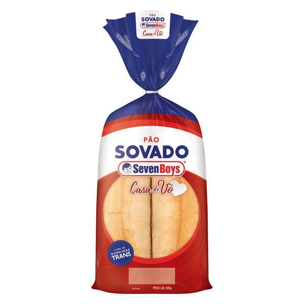 Pão Sovado Seven Boys Casa de Vó Pacote 500g