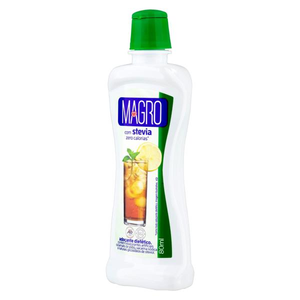 Adoçante Líquido Stevia Magro Frasco 80ml