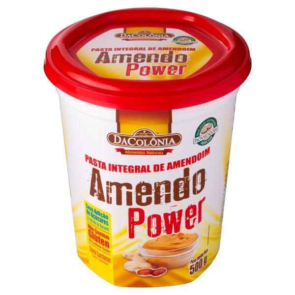 Pasta de Amendoim Amendo Power Integral DaColônia Pote 500g