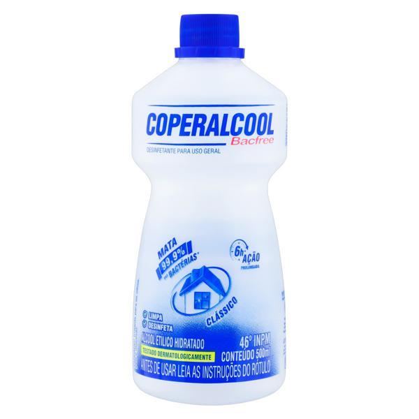 Álcool Líquido 46º INPM Clássico Coperalcool Bacfree Frasco 500ml