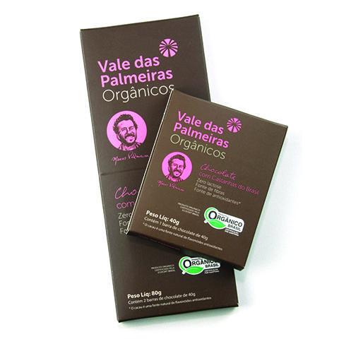 Chocolate 70% com Castanhas do Brasil Orgânico 80g
