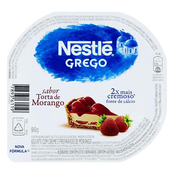 Iogurte Grego Torta de Morango Nestlé Pote 90g