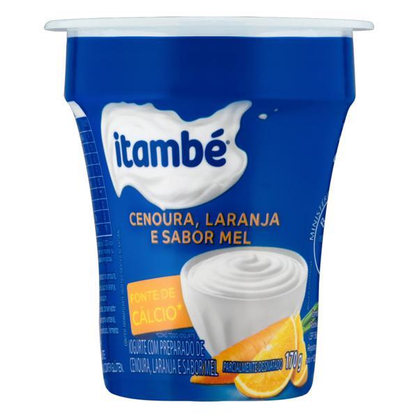 Iogurte Parcialmente Desnatado Cenoura, Laranja e Mel Itambé Pote 170g