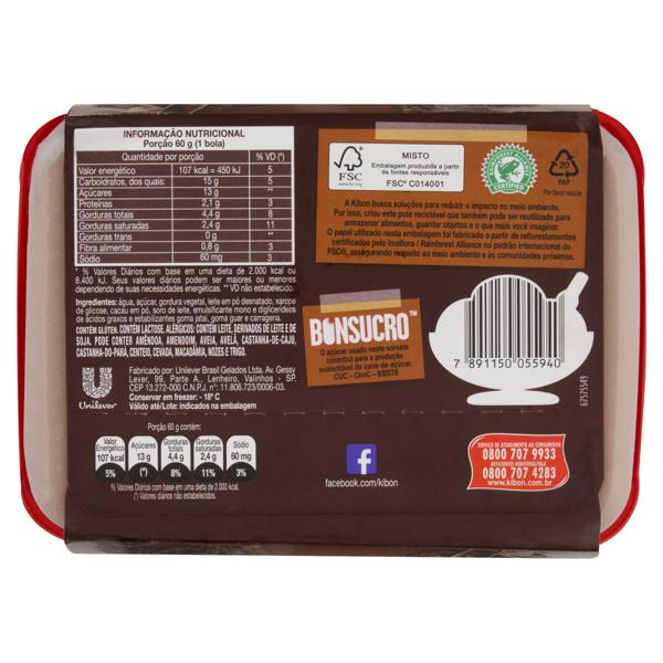 Sorvete Chocolate Kibon Mousse Pote 1,3l