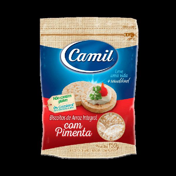 Biscoito de arroz integral com pimenta Camil - 150 g