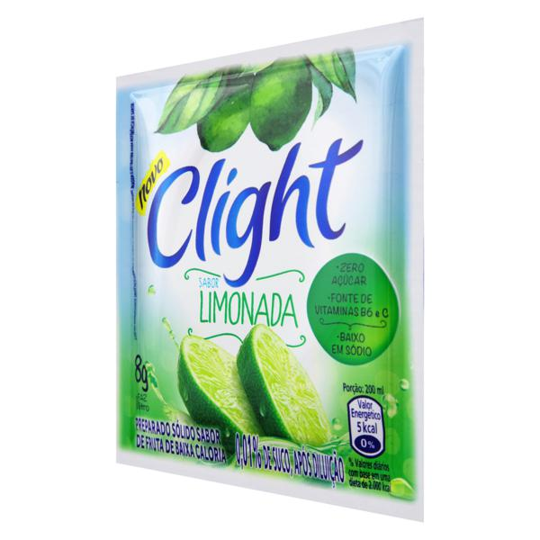 Refresco em Pó Limonada Zero Açúcar Clight Pacote 8g