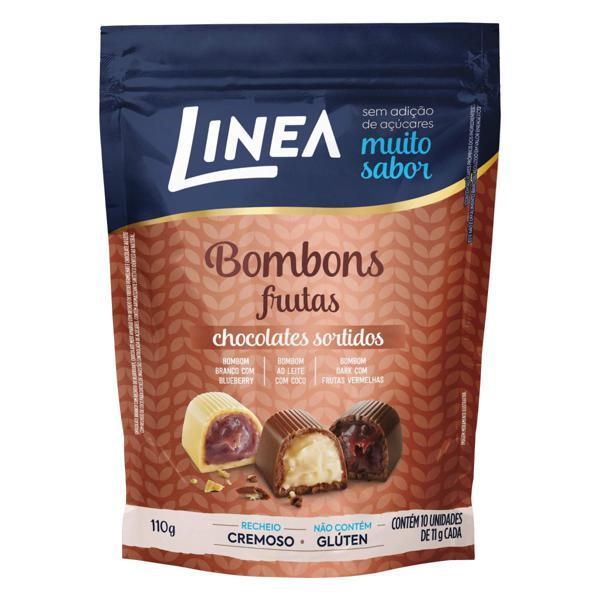 Bombom Frutas Sortidas Linea Pouch 110g 10 Unidades