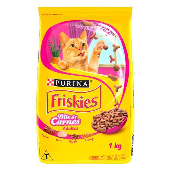 Alimento para Gatos Adultos Mix de Carnes Purina Friskies Pacote 1kg