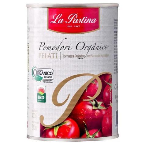 Tomate Pelado Orgânico 400g - LA PASTINA