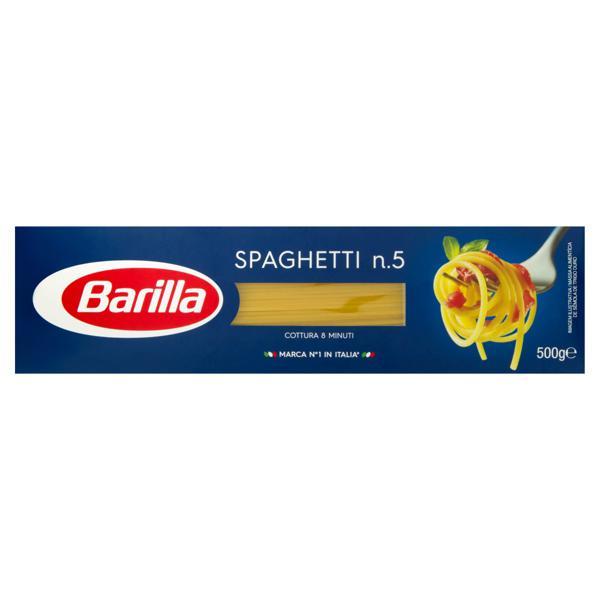 Macarrão de Sêmola Espaguete 5 Barilla Caixa 500g