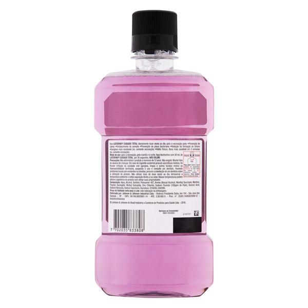 Enxaguante Bucal Antisséptico Menta Fresca Listerine Cuidado Total Frasco 500ml