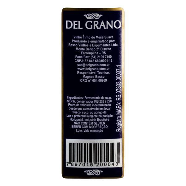 Vinho Brasileiro Tinto Suave Del Grano Serra Gaúcha Garrafa 750ml