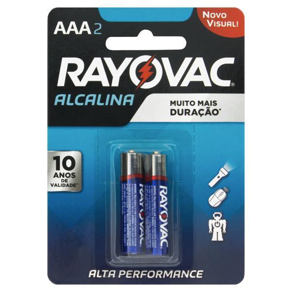 Pilha Alcalina AAA Rayovac 2 Unidades 1,5V