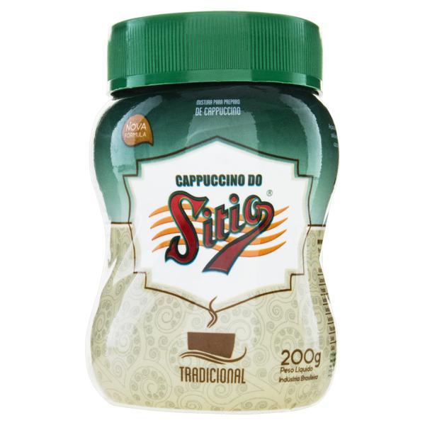 Cappuccino Solúvel Tradicional Sítio Pote 200g