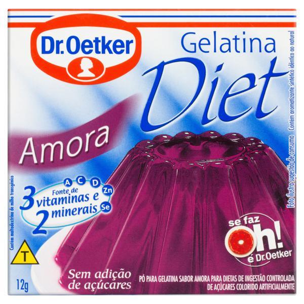 Gelatina em Pó Amora Diet Dr. Oetker Caixa 12g