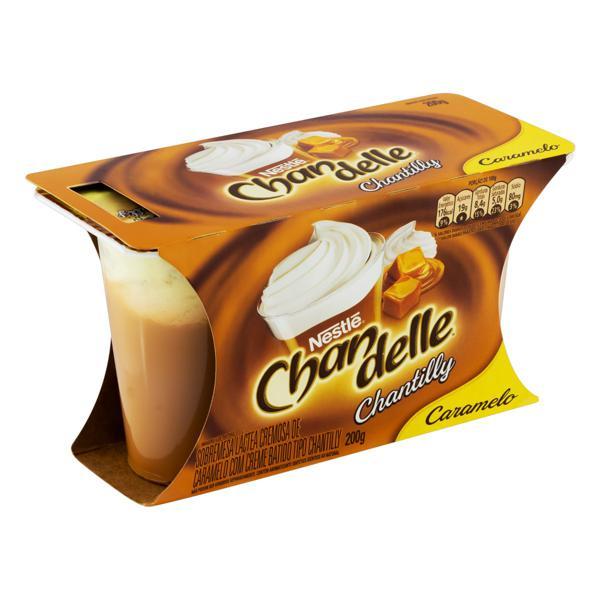 Sobremesa Láctea com Chantilly Caramelo Nestlé Chandelle Bandeja 200g 2 Unidades
