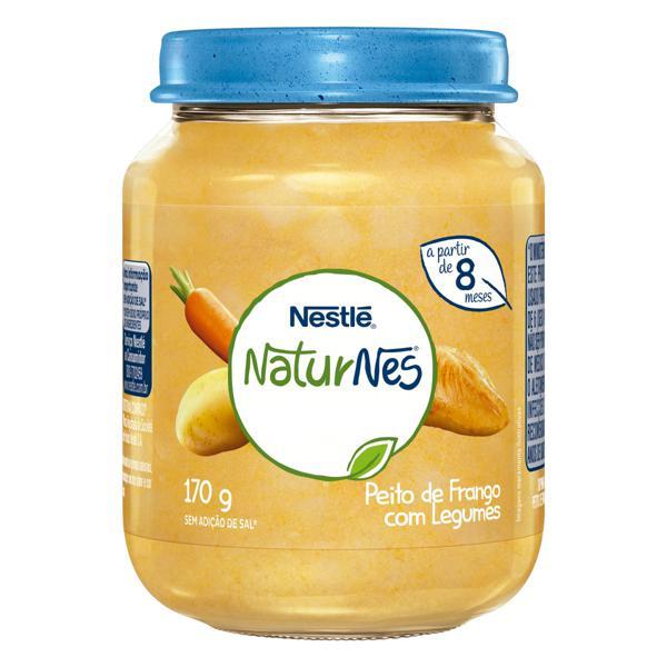 Sopinha Peito de Frango com Legumes Nestlé Naturnes Vidro 170g