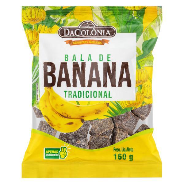 Bala de Banana Tradicional DaColônia Pacote 160g