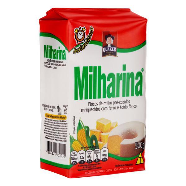 Flocos de Milho Pré-Cozido Quaker Milharina Pacote 500g