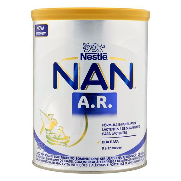 Fórmula Infantil para Lactentes A.R. Nestlé Nan Lata 800g