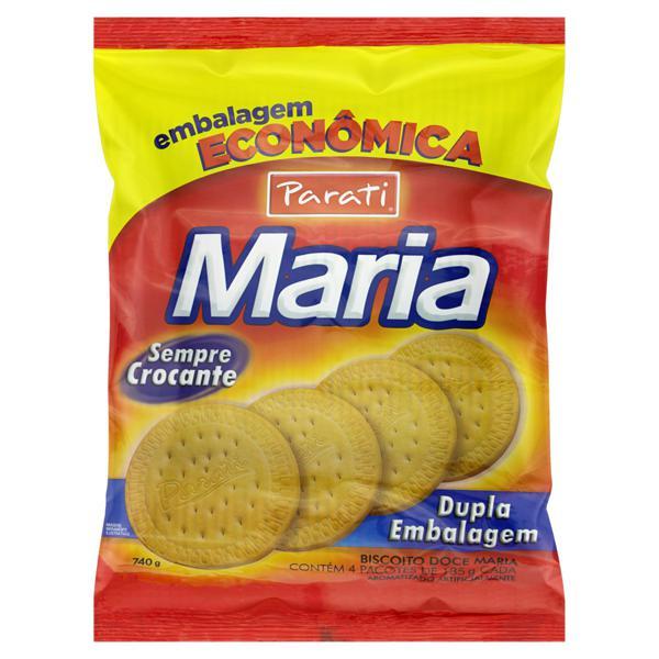 Biscoito Maria Parati Pacote 740g