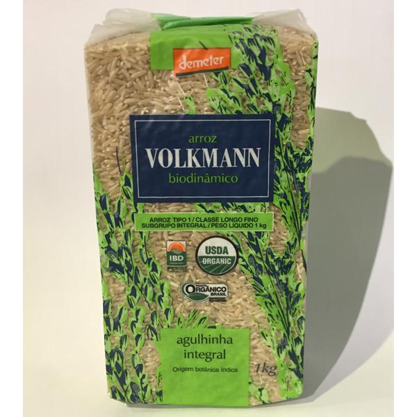 Arroz agulinha integral 1kg - Volkmann