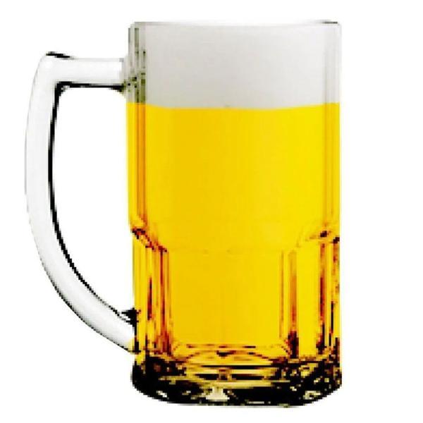 Caneca para Cerveja Transparente Bristol Vidro 340ml Nadir