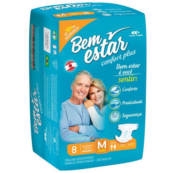 Fralda Geriátrica BEM ESTAR Comfort M 8 Unidades