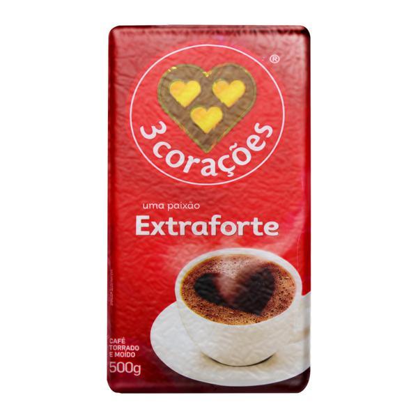 Café Torrado e Moído a Vácuo Extraforte 3 Corações Pacote 500g
