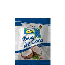 Flocos De Coco Dino Coco Umido E Adoçado 100G Pacote