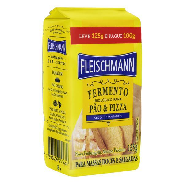 Fermento Biológico Seco Instantâneo Fleischmann Pacote Leve 125g Pague 100g