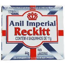 Anil Imperial Reckitt C/4 Saquinhos De 11G 44G