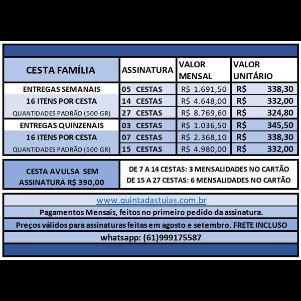 FAMÍLIA - 15 ou 27 Cestas