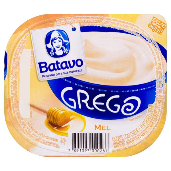 Iogurte Grego Mel Batavo Pote 100g
