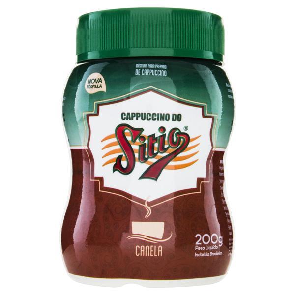 Cappuccino Solúvel Canela Sítio Pote 200g