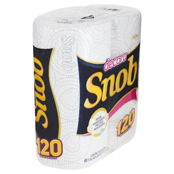 Toalha de Papel Folha Simples Multiuso Snob Decora 19cm x 22cm Pacote 2 Unidades