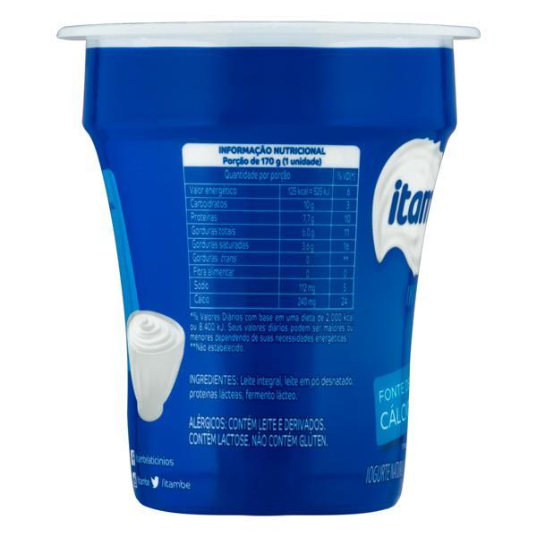 Iogurte Integral Natural Itambé Pote 170g