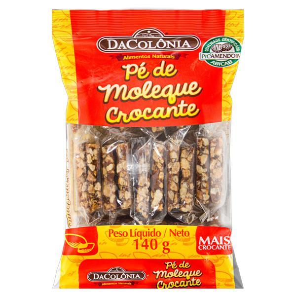 Pé de Moleque Crocante DaColônia Pacote 140g