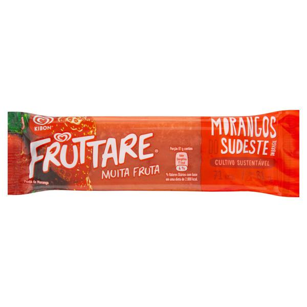 Picolé Morango Kibon Fruttare Pacote 81g