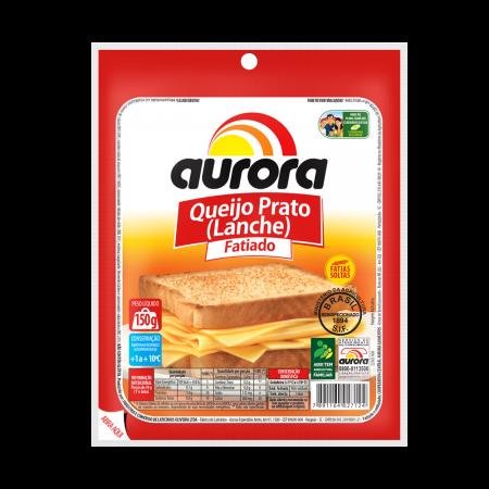 Queijo prato fatiado 150g Aurora