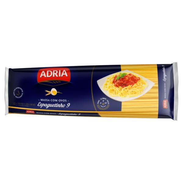 Macarrão de Sêmola com Ovos Espaguetinho 9 Adria Pacote 500g