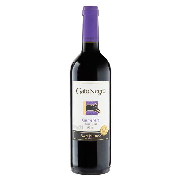 Vinho Chileno Tinto Seco Gato Negro Carmenère Valle Central Garrafa 750ml