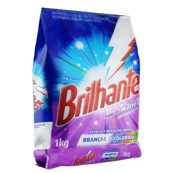 Lava-Roupas em Pó Roupas Brancas e Coloridas Brilhante Toque de Maciez Pacote 1kg